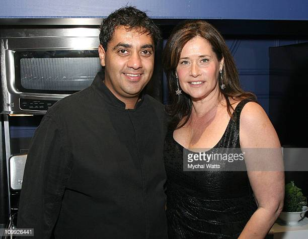 Featured Chef Michael Mina and Lorraine Bracco attend Douglas Hannant's 10th Year Anniversary at Bon Appetit Supper Club on October 26 2007 in New...