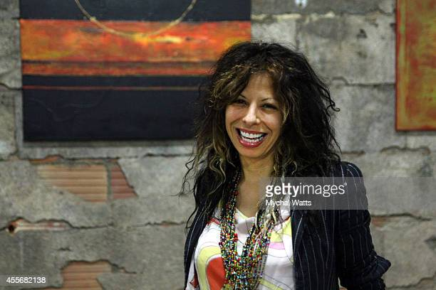 Featured Event Artist Stella Michaels attends the Exclusivleecom Launch Party>> at Stray Kat Gallery on September 18 2014 in New York City