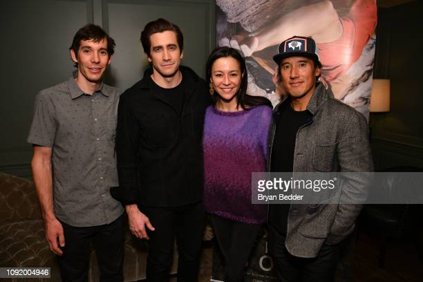 Featured Free Soloist Alex Honnold actor Jake Gyllenhaal Free Solo Director and Producer E Chai Vasarhelyi and Free Solo Director Producer and...