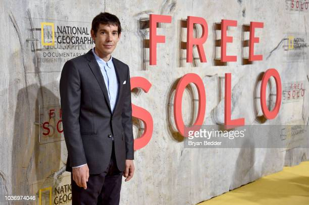 Featured Free Soloist Alex Honnold attends the New York City premiere of National Geographic Documentary Films' 'Free Solo' at Jazz at Lincoln Center...