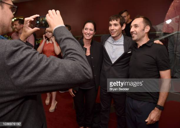 Featured Free Soloist Alex Honnold poses for a photo during the New York City premiere of National Geographic Documentary Films' 'Free Solo' at Jazz...