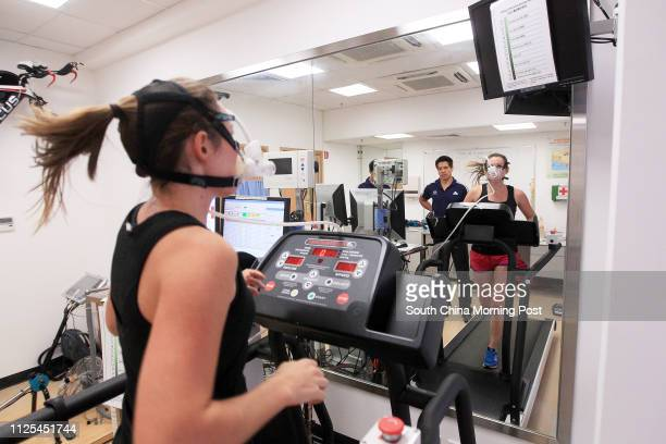 Features health writer Rachel Jacqueline undergoes tests and training at the Institute of Human Performance located at Stanley Ho Sports Centre in...