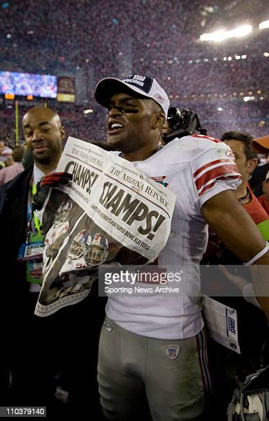 Feb 03 2008 Glendale Arizona USA Giants WIN in big upset over heavily favored Pats The New York Giants have won seven NFL titles including four in...