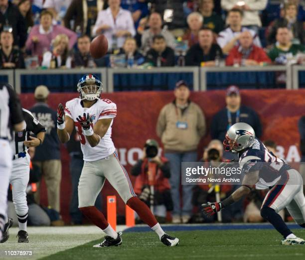 Feb 03 2008 Glendale Arizona USA New England Patriots against New York Giants AMANI TOOMER during Super Bowl XLII at the Phoenix Stadium