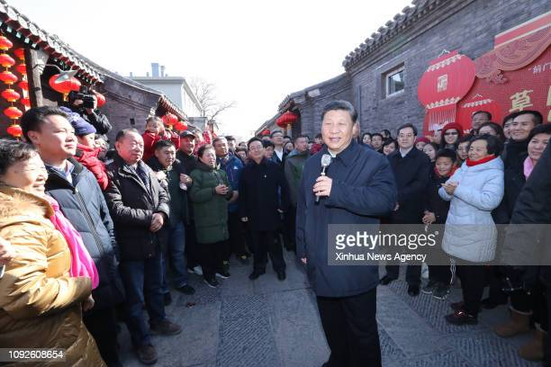 BEIJING Feb 1 2019 Chinese President Xi Jinping also general secretary of the Communist Party of China Central Committee and chairman of the Central...