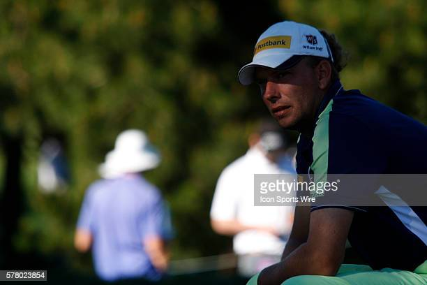 Marcel Siem takes a short break between holes during the final round of the ATT Pebble Beach National ProAm in Pebble Beach CA