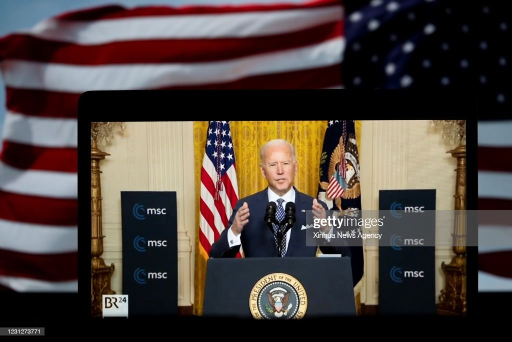 U.S.-WASHINGTON, D.C.-PRESIDENT-BIDEN-MUNICH SECURITY CONFERENCE : News Photo