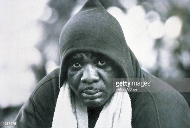 Sonny Liston of the USA takes a break from training for his forthcoming title fight against Cassius Clay Mandatory Credit Allsport Hulton/Archive