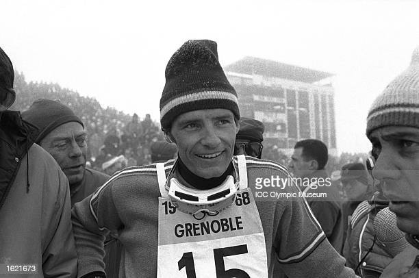 JeanClaude Killy of France between events during the 1968 Winter Olympic Games in Grenoble France Mandatory Credit IOC Olympic Museum /Allsport