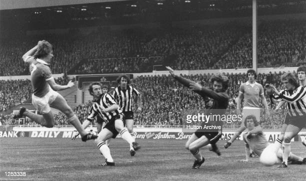 League Cup Final Manchester City v Newcastle Peter Barnes opens the scoring for City City went on to win the cup with a second goal from Dennis...
