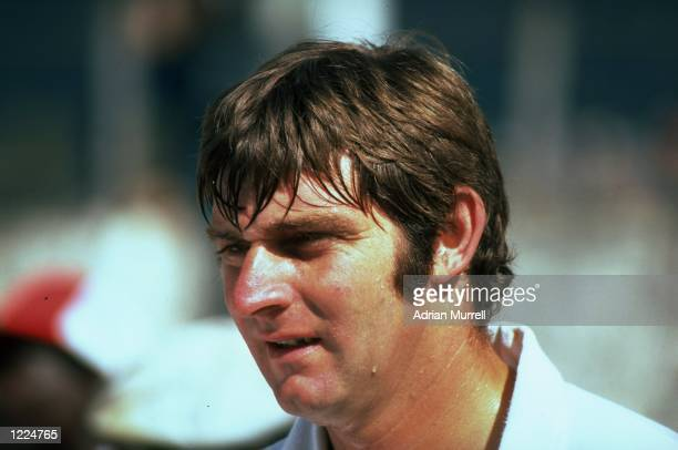 Portrait of Chris Old of England during the First Test match against the West Indies at Queen's Park Oval in Port-of-Spain, Trinidad. West Indies won...