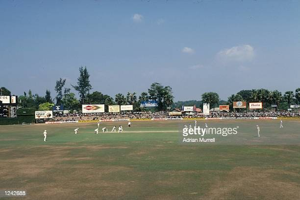 General view of the first ever Test match between England and Sri Lanka at Colombo