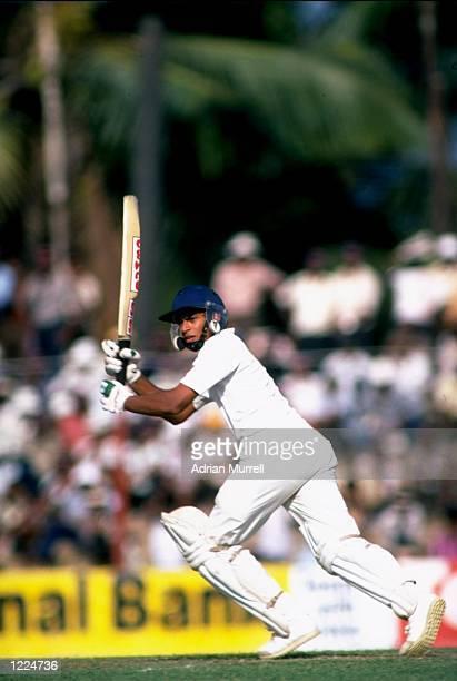 Ranjan Senerath Madugalle of Sri Lanka in action during the First Test match against England at P Saravanamuttu Stadium in Colombo Sri Lanka England...