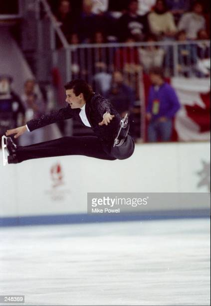 Christopher Bowman does his routine during the men''s figure skating competition at the Olympic Games in Albertville France Mandatory Credit Mike...