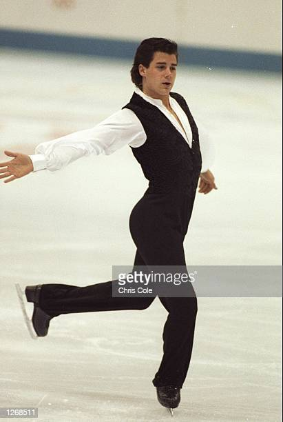 Christopher Bowman of the USA in action during the Mens Figure Skating event at the 1992 Winter Olympics in Albertville France Mandatory Credit Chris...