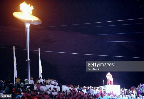 General view of the Opening Ceremony during the Olympic Games in Albertville, France. Mandatory Credit: Bob Martin /Allsport