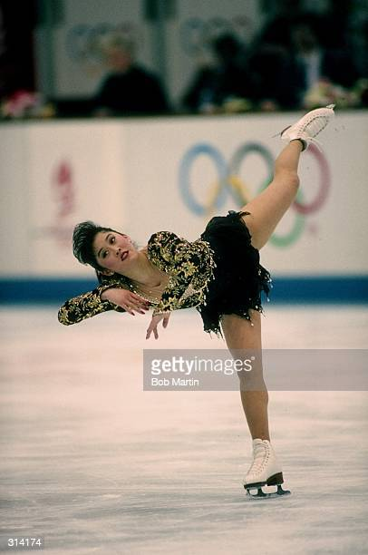 Kristi Yamaguchi of the United States performs during the Olympic Games in Albertville, France.