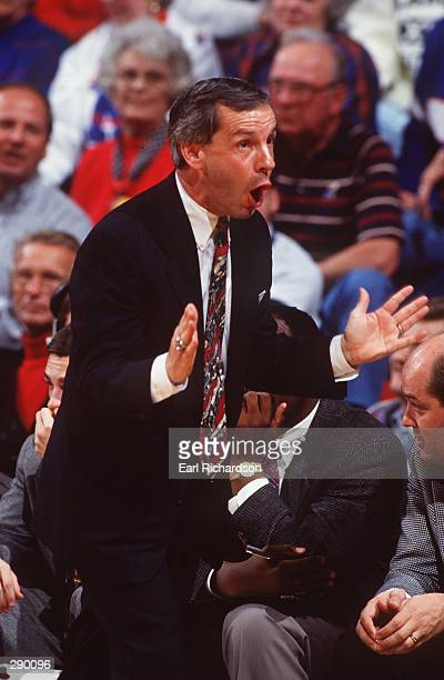 UNIVERSITY OF KANSAS HEAD COACH ROY WILLIAMS QUESTIONS A CALL DURING HIS TEAM''S GAME AGAINST COLORADO AT ALLEN FIELDHOUSE IN LAWRENCE, KANSAS.