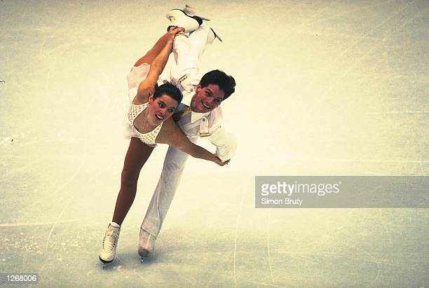 Wylie and Nancy Kerrigan of the USA in action during the Gala Exhibition of the 1992 Winter Olympic Games in Alberville, France. \ Mandatory Credit:...