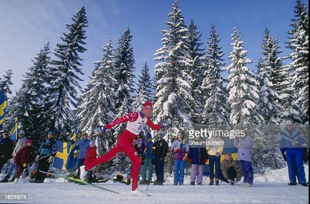 Erling Jeune in action in the 30 kilometre Mens Cross Country Event during the Nordic World Ski Championships in Falun, Sweden. \ Mandatory Credit:...