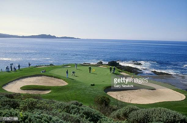 A general view of the 7th Hole of the Pebble Beach Golf Course in Pebble Beach California during the 1994 ATT Pebble Beach ProAm Mandatory Credit...