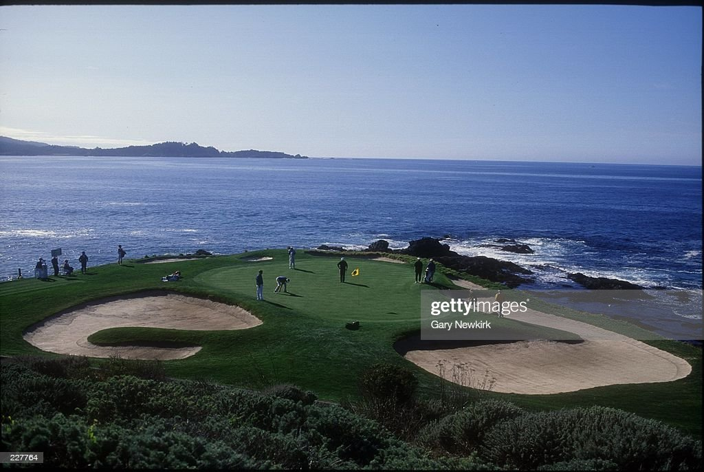 A Scenic Shot Of The Par 3 Seventh Hole At Pebble Beach Golf Course During