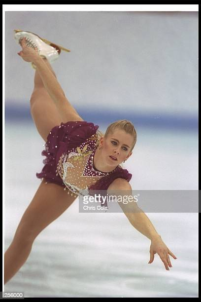 Tonya Harding of the USA during her routinue at the Winter Olympics in Lillehammer, Norway. She took eighth place. Mandatory Credit: Chris Cole...