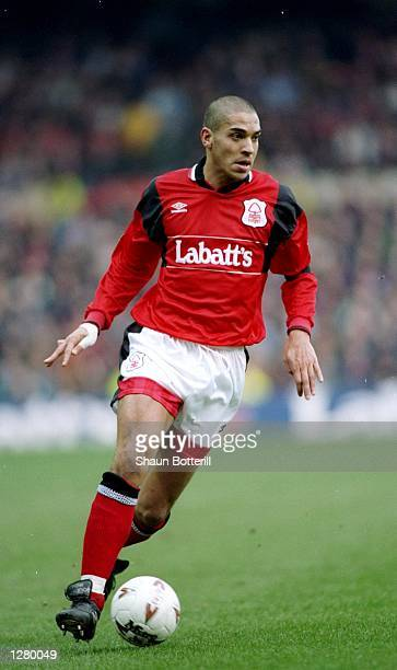 Stan Collymore of Nottingham Forest in action during an FA Carling Premiership match against Liverpool at the City Ground in Nottingham England The...