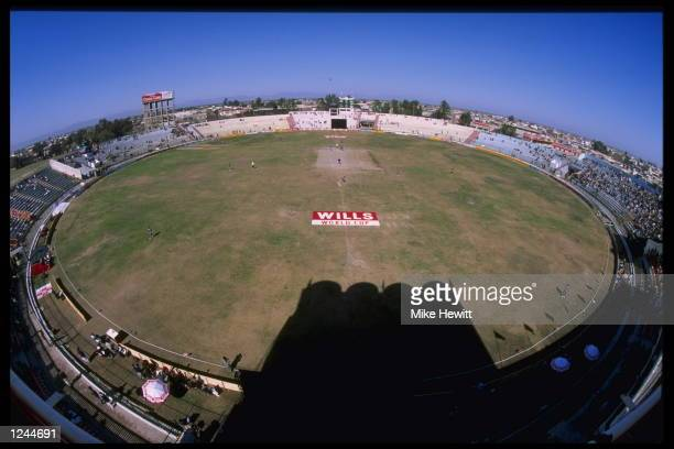 View of Rawalpindi cricket ground during the match between England and the United Arab Emirates during the cricket world cup at Rawalpindi, Pakistan.