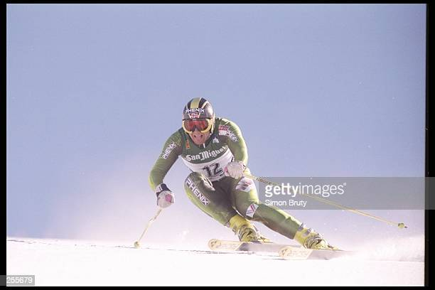 Atle Skhardal of Norway skis down the hill in the Men''s Super G at the Alpine World Ski Championships in Sierra Nevada, Spain.