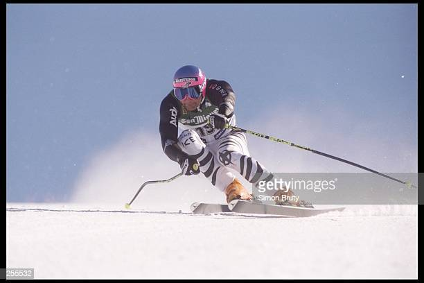Stefan Krauss of the Germany skis down the hill during the Men''s Super G at the Alpine World Ski Championships in Sierra Nevada, Spain.