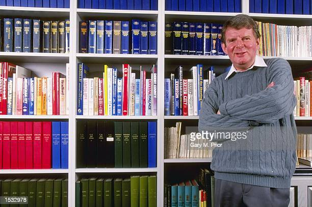 A feature on BBC television football commentator John Motson at home Mandatory Credit Gary M Prior /Allsport