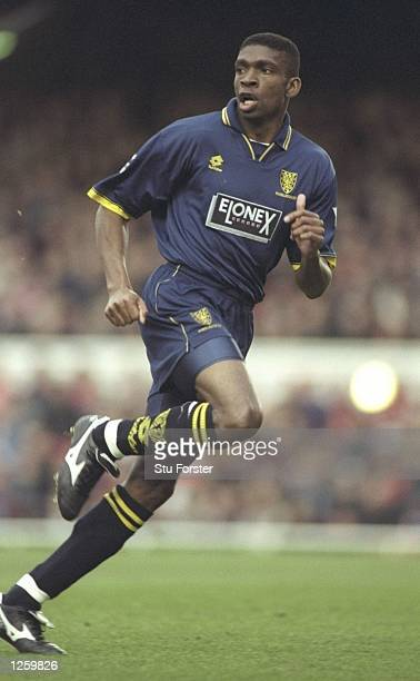Efan Ekoku of Wimbledon in action during the FA Carling Premiership game against Arsenal at Highbury The game ended 1 0 to Wimbledon Mandatory Credit...