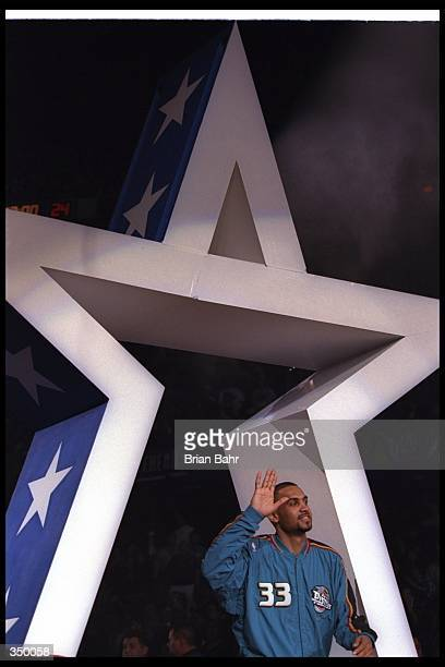 Forward Grant Hill of the Detroit Pistons looks on during the NBA AllStar game Mandatory Credit Brian Bahr /Allsport