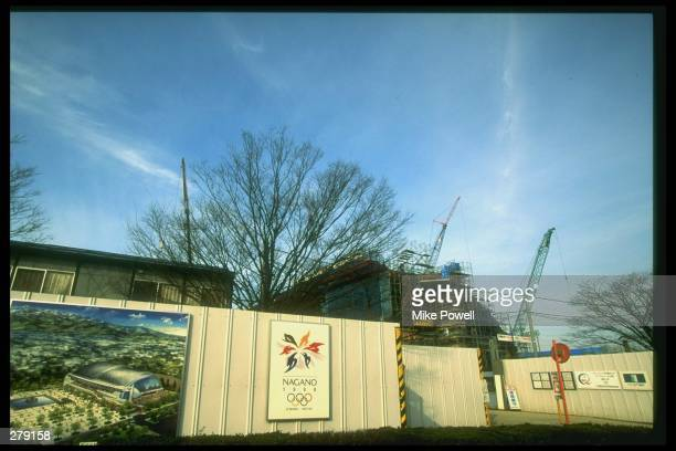 General view of Aqua Wave Stadium in Nagano City, Japan, the site of the hockey competition for the 1998 Winter Olympic Games.. Mandatory Credit:...