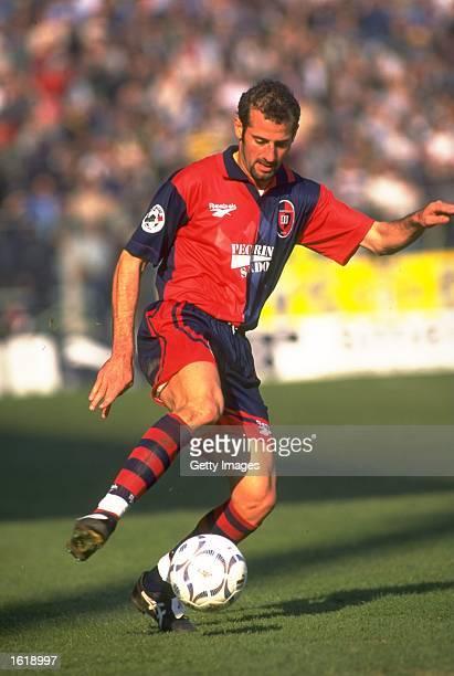 Pancaro of Cagliari in action in a Serie A match against Parma at Stadio Tardini Parma Mandatory Credit Allsport UK /Allsport