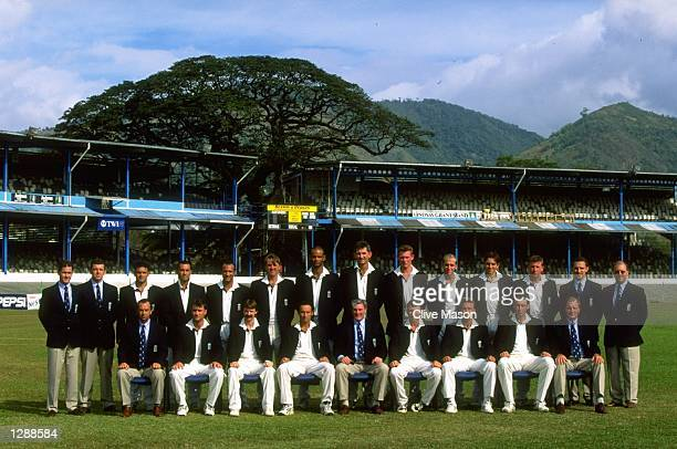 A group photograph of the England touring party before the Third Test match against the West Indies at the Queen's Park Oval in PortofSpain Trinidad...