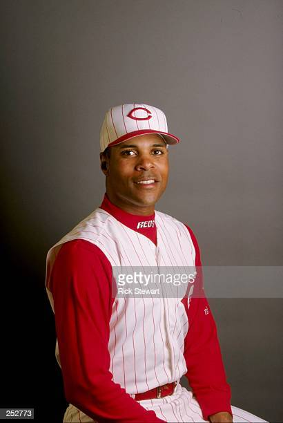 Barry Larkin of the Cincinnati Reds poses for a portrait during Spring Training at the Ed Smith Stadium in Sarasota Florida Mandatory Credit Rick...