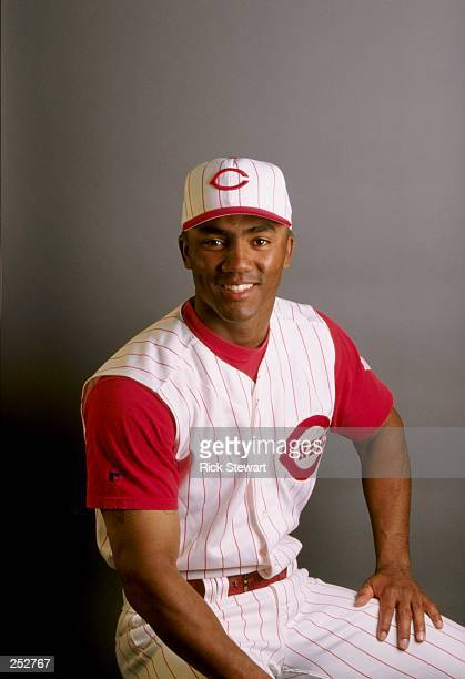 Damian Jackson of the Cincinnati Reds poses for a portrait during Spring Training at the Ed Smith Stadium in Sarasota Florida Mandatory Credit Rick...