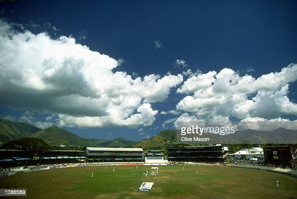 General view of the ground during the Third Test match at the Queen's Park Oval in Port-of-Spain, Trinidad. \ Mandatory Credit: Clive Mason/Allsport