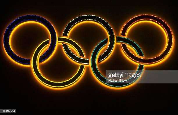 General view of the Olympic Rings at the 1998 Winter Olympic Games in Nagano Japan Mandatory Credit Nathan Bilow/Allsport
