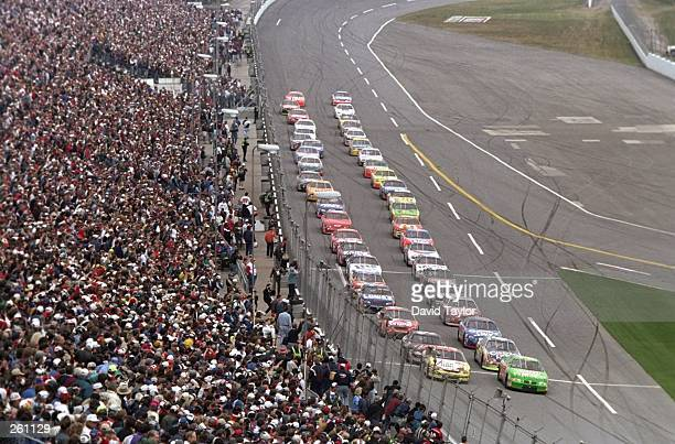 General view of the start of the Daytona 500 at Daytona International Speedway in Daytona Beach Florida