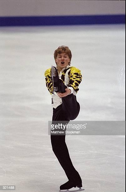 Ilia Kulik of Russia competes during the Winter Olympics in Nagano Japan Kulik won the gold medal Mandatory Credit Matthew Stockman /Allsport