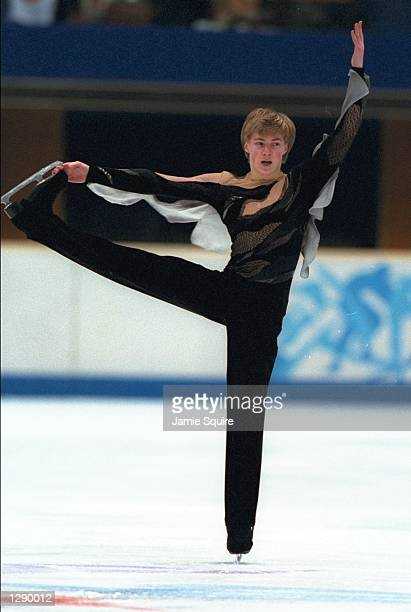 Ilia Kulik of Russia competes in the mens short program of figure skating at the White Ring Arena the 1998 Winter Olympic Games in Nagano Japan...