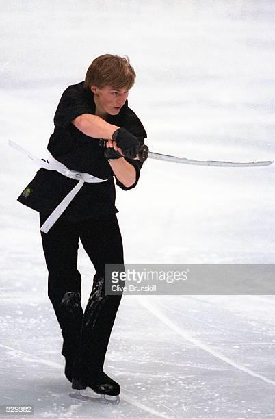 Ilia Kulik of Russia performs during the ice dance exhibition at White Ring Arena during the 1998 Winter Olympic Games in Nagano Japan Mandatory...