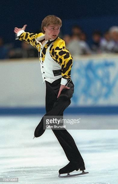Ilia Kulik of Russia performs his gold medal winning routine in the mens free skate competition at White Ring Arena during the 1998 Winter Olympic...