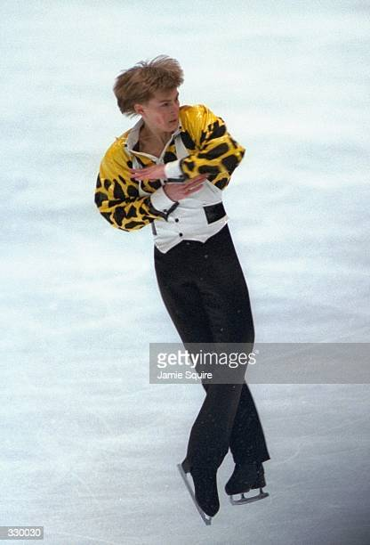 Illia Kulik of Russia wins the gold medal in the mens free skate at the White Ring Arena during the 1998 Winter Olympic Games in Nagano Japan...