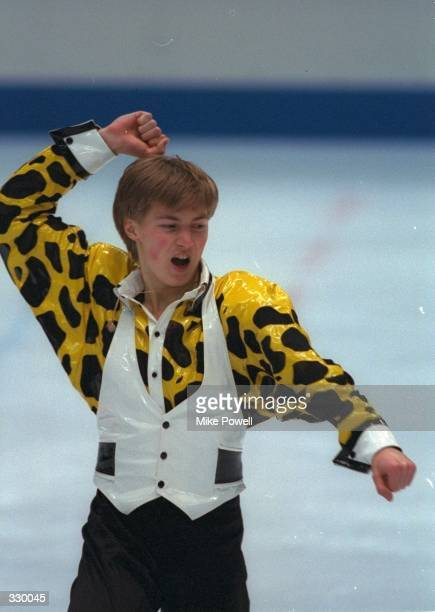 Illia Kulik of Russia wins the gold medal in the mens free skate competition at White Ring Arena during the 1998 Winter Olympic Games in Nagano Japan...