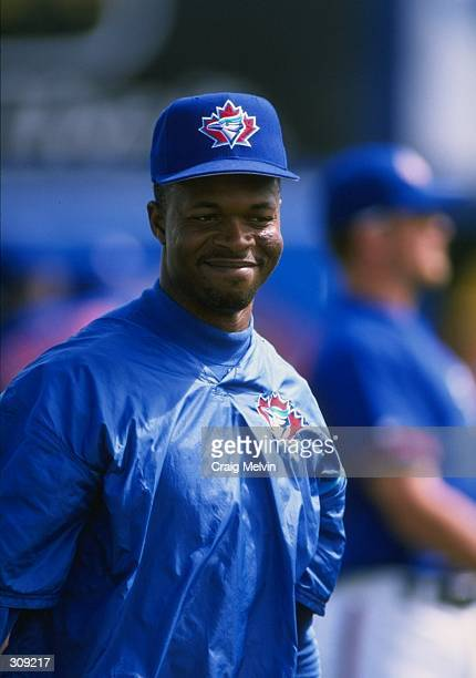 Infielder Tony Fernandez of the Toronto Blue Jays in action during a spring training game against the Philadelphia Phillies at the Grant Field in...