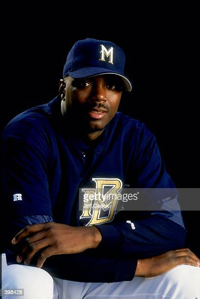 Johnny Ruffin of the Milwaukee Brewers at Spring Training at the Maryvale Baseball Park in Phoenix Arizona